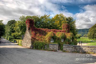 Llanrwst Digital Art - Welsh Cottage by Adrian Evans