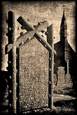 Welsh Graveyard Art Print
