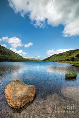 Llanrwst Digital Art - Welsh Lake by Adrian Evans