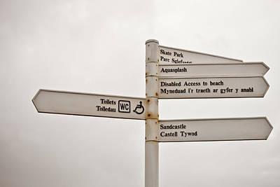 Welsh Signs Art Print by Tom Gowanlock