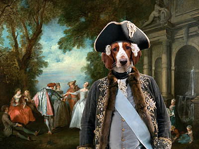 Nobility Dogs Painting - Welsh Springer Spaniel Art Canvas Print by Sandra Sij