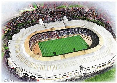 Rugby Painting - Wembley Stadium by Kevin Fletcher