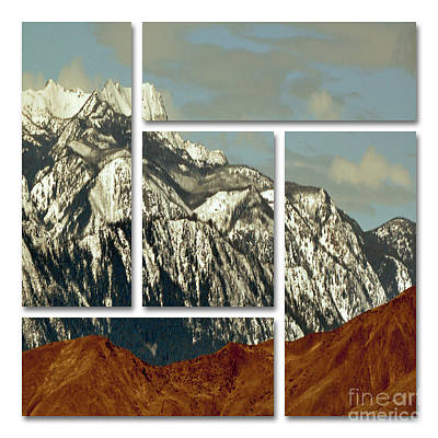 Peaceful State Digital Art - Wenatchee Mountains by Molly McPherson