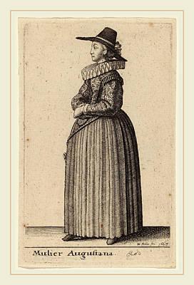 Augustana Drawing - Wenceslaus Hollar Bohemian, 1607-1677, Mulier Augustana by Litz Collection