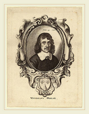 Self-portrait Drawing - Wenceslaus Hollar Bohemian, 1607-1677, Self-portrait by Litz Collection