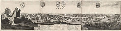 Prague Drawing - Wenceslaus Hollar, The Great View Of Prague by Quint Lox