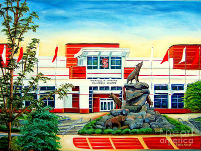 Painting - Wendell H. Murphy Football Center by Shelia Kempf