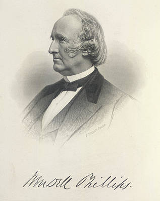 Wendell Phillips Print by British Library