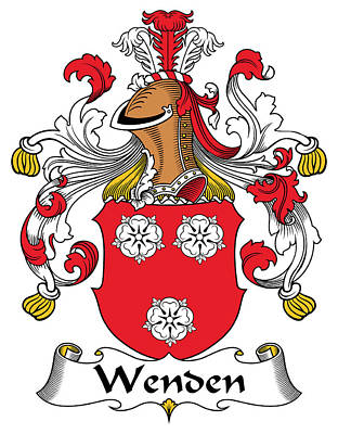 Wenden Coat Of Arms German Art Print
