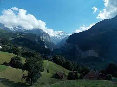Wengen View Of The Alps Art Print