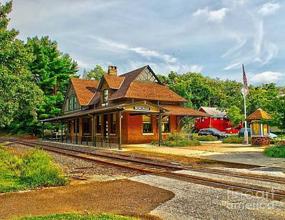 Photograph - Wenonah Train Station by Nick Zelinsky