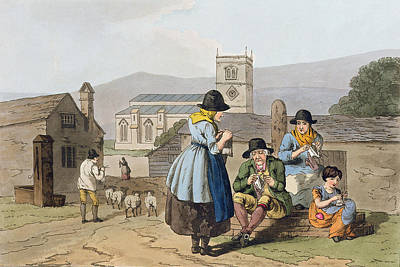 Wensleydale Knitters, From `costume Art Print