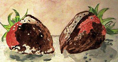 We're Great Together Valentine Art Print by Angela Davies