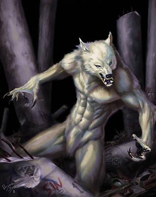 Wolfman Digital Art - Werewolf by Bryan Syme