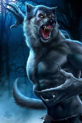 Horror Digital Art - Werewolf by Tom Wood