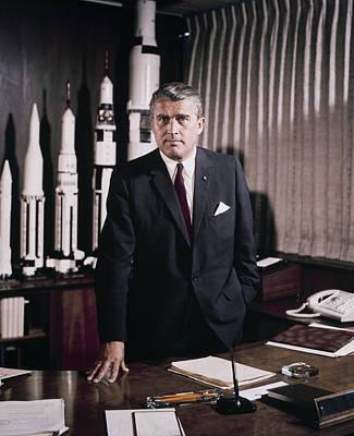 Wernher Von Braun Photograph - Wernher Von Braun by Celestial Images