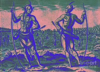 Weroans Of Virginia 1590 Art Print by Peter Gumaer Ogden