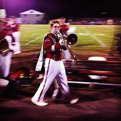 Music Photograph - Wes In His Last Marching Uniform Game by Kate Timmons