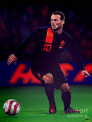 Holland Painting - Wesley Sneijder  by Paul Meijering