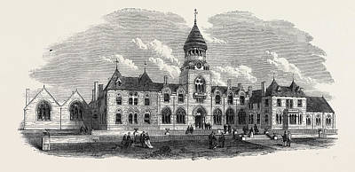 Wesleyan Drawing - Wesleyan Methodist College Headingley Near Leeds Uk 1869 by English School