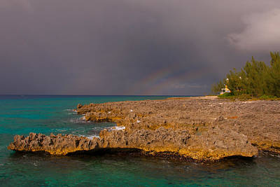 Photograph - West Bay Triple Rainbow by Brenda Jacobs