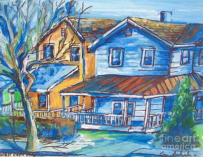 Drawing - West Cape May Nj by Eric  Schiabor