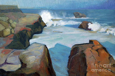 Painting - West Cliff Crash by Sandra Smith-Dugan