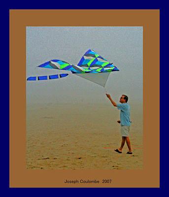 Digital Art - West Coast Beach Kites by Joseph Coulombe