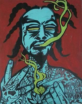 Wiz Khalifa Painting - West Coast Deemon by Deemon Picasso
