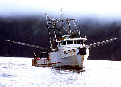 Photograph - West Coast Fishboat by Robert  Rodvik