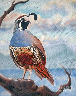 Painting - West Coast Quail by Janet McDonald