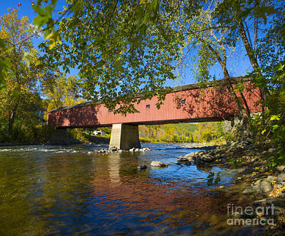 West Cornwall Covered Bridge Art Print