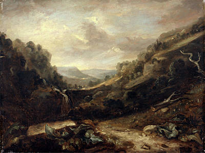 Barker Painting - West Country Landscape, Attributed To Benjamin Barker by Litz Collection