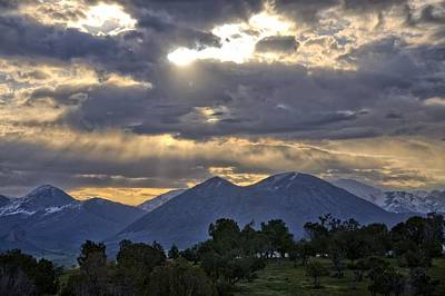 Photograph - West Elk Mountain Sunbeams by Eric Rundle