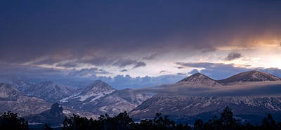 Art Print featuring the photograph West Elk Mountains First Light by Eric Rundle