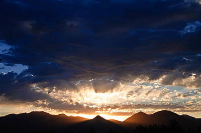 Photograph - West Elk Mountains Sadows And Light by Eric Rundle