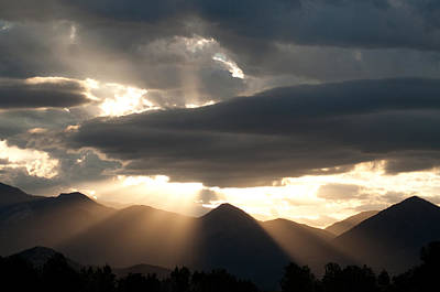 Photograph - West Elk Sunbeams by Eric Rundle