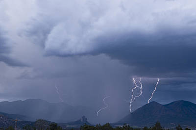 Photograph - West Elk Thunderstorm  by Eric Rundle
