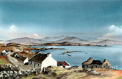 Eire Painting - Galway West End Inisbofin Island  by Val Byrne