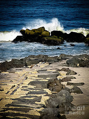 Long Branch Photograph - West End Jetties by Colleen Kammerer