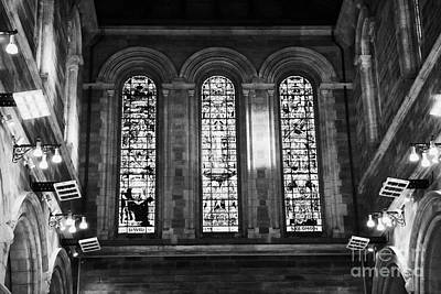 Stained Glass Ireland Photograph - West End Nave Windows Stained Glass Window St Annes Cathedral Belfast Northern Ireland Uk by Joe Fox
