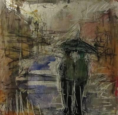West End Rain Art Print by Debbie Clarke