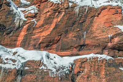 Photograph - West Fork Snowy Red Rock by Tam Ryan