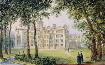 Gown Painting - West Front Of The New Building Of St by Richard Bankes Harraden