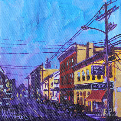 Telephone Poles Painting - West Front Street by Michael Ciccotello