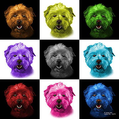 Mixed Media - West Highland Terrier Mix - 8674 - V1 - M by James Ahn