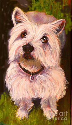West Highland Terrier Reporting For Duty Print by Susan A Becker
