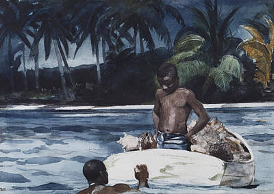 Indies Painting - West Indian Divers by Celestial Images