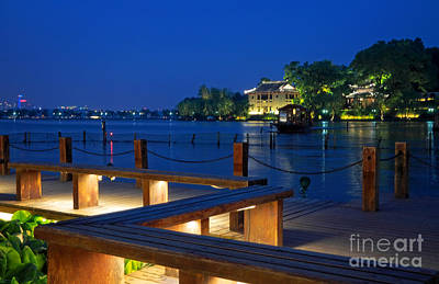 Photograph - West Lake Evening by Charline Xia