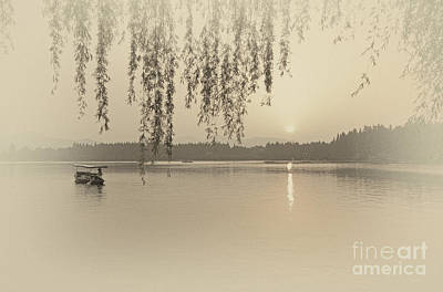 West Lake Sunset Art Print by Charline Xia